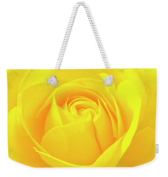A Yellow Rose For Joy And Happiness Weekender Tote Bag
