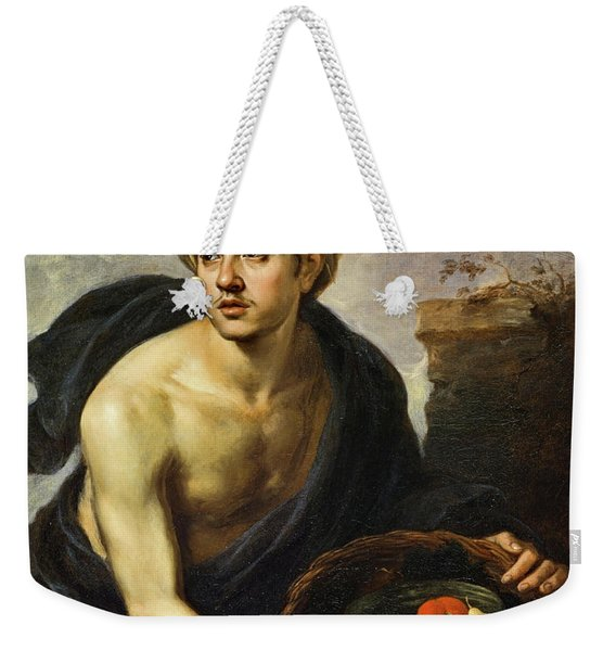 A Young Man With A Basket Of Fruit, 1650 Weekender Tote Bag