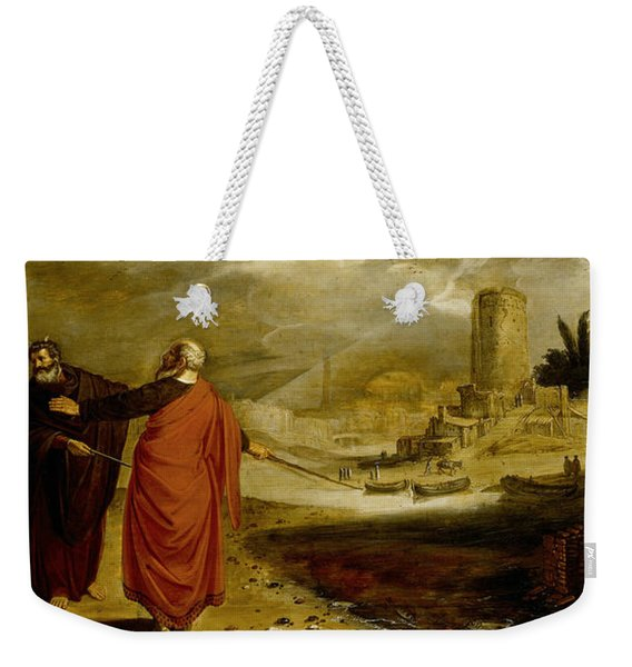 Aaron Turns The Water Of The River Into Blood Weekender Tote Bag