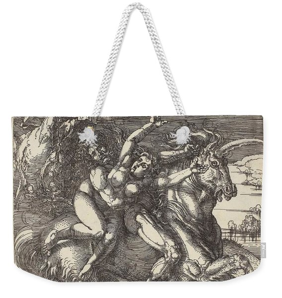 Abduction On A Unicorn, 1516 Albrecht Durer Weekender Tote Bag