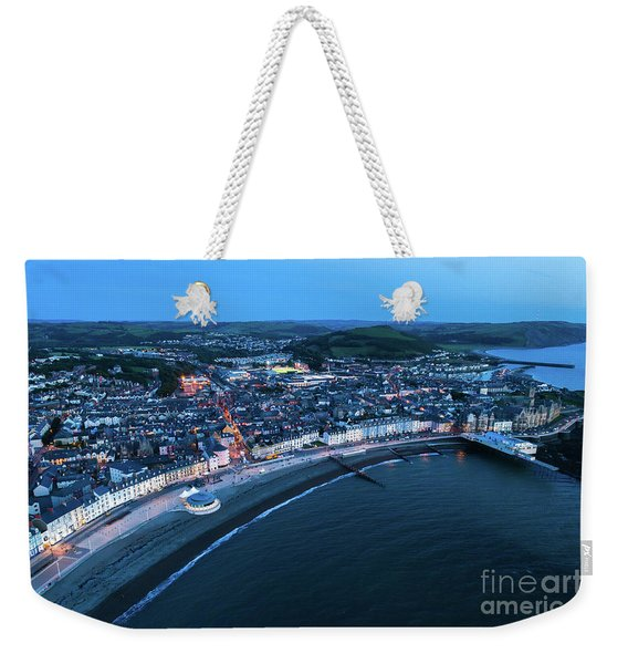Aberystwyth From The Air At Night Weekender Tote Bag