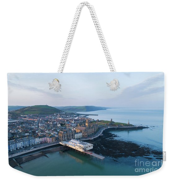 Aberystwyth From The Air In The Morning Weekender Tote Bag