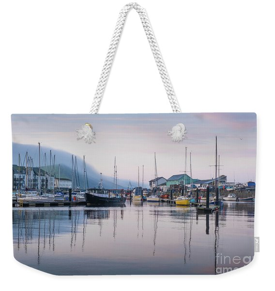Aberystwyth Harbour In The Eatly Morning Weekender Tote Bag