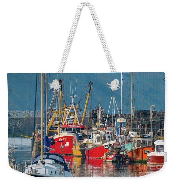 Aberystwyth Harbour Weekender Tote Bag