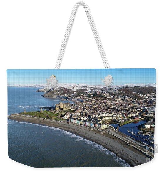 Aberystwyth In Winter Weekender Tote Bag