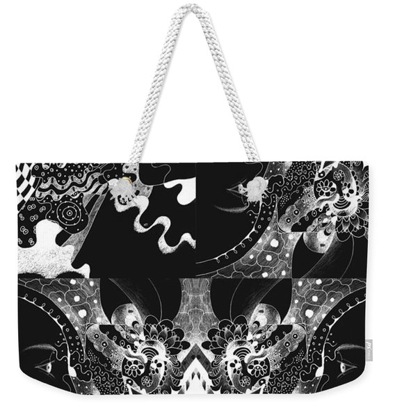 About The I In The Sky - Night Vision Weekender Tote Bag