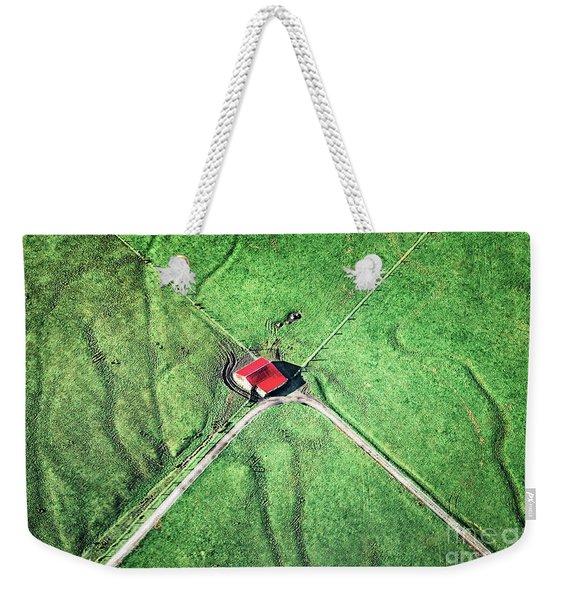 Above The Green Fiields Weekender Tote Bag