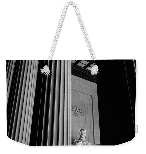 Abraham Lincoln Memorial Washington Dc Weekender Tote Bag