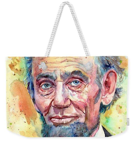 Abraham Lincoln Portrait Weekender Tote Bag