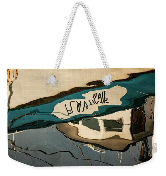 Abstract Boat Reflection Vi Color Weekender Tote Bag