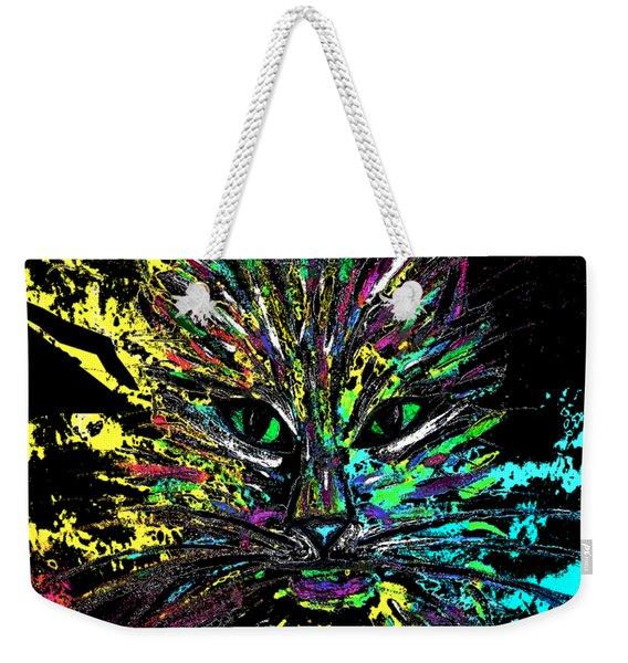 Abstract Cat  Weekender Tote Bag