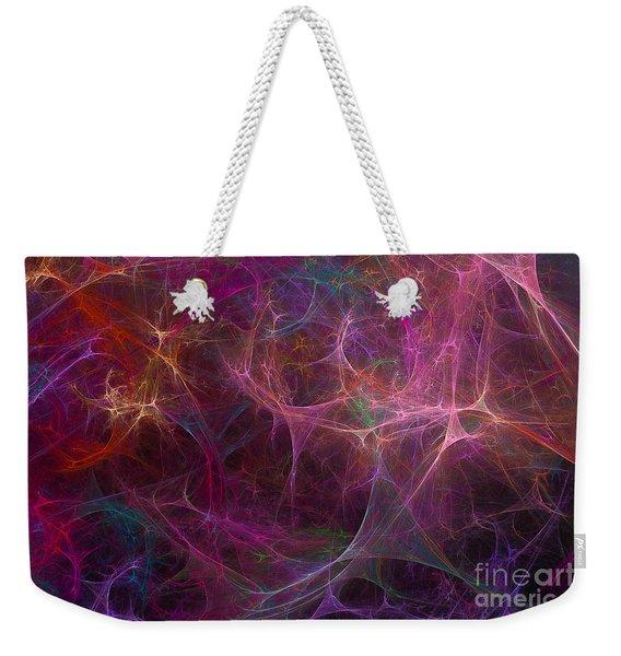 Abstract Colorful Fireworks Weekender Tote Bag