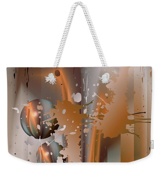 Abstract Copper Weekender Tote Bag