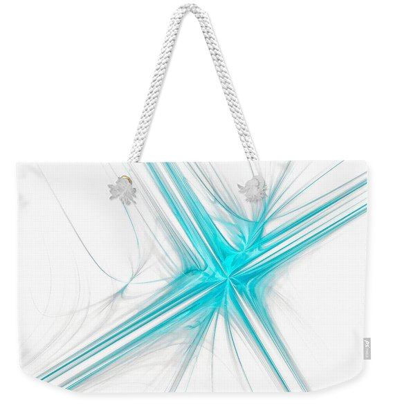 Abstract Cross Light Blue Weekender Tote Bag