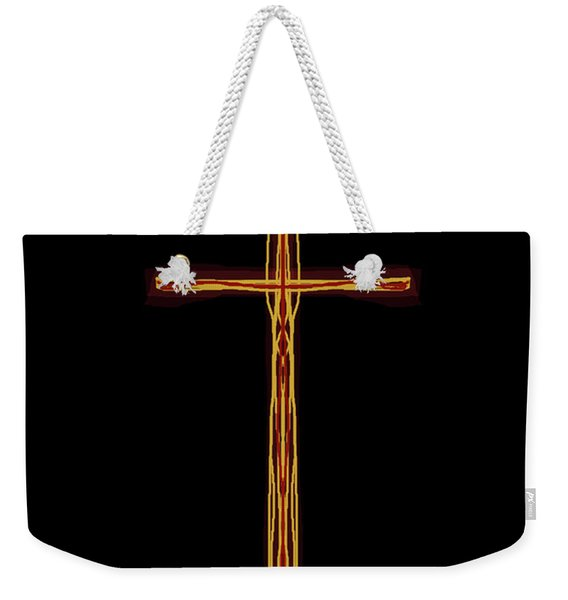 Abstract Cross With Halo Weekender Tote Bag