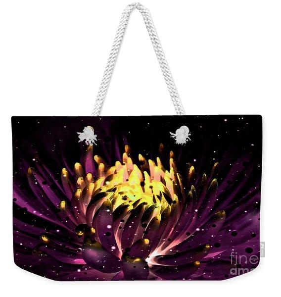 Abstract Digital Dahlia Floral Cosmos 891 Weekender Tote Bag