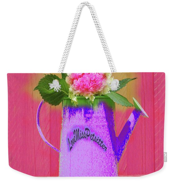 Abstract Floral Art 342 Weekender Tote Bag