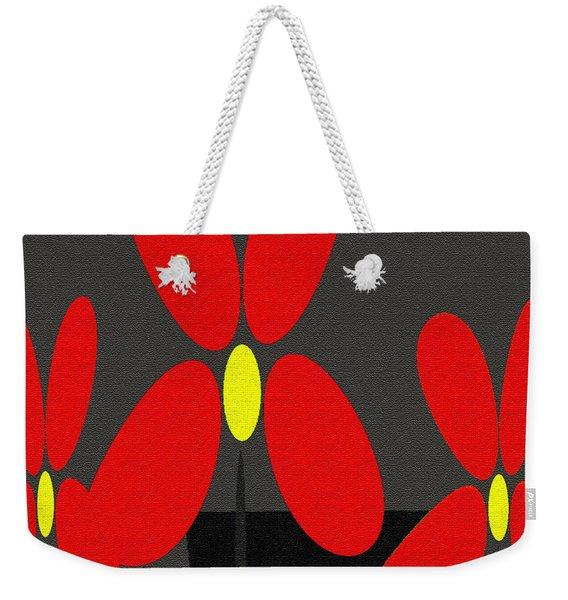 Abstract Floral Art 393 Weekender Tote Bag