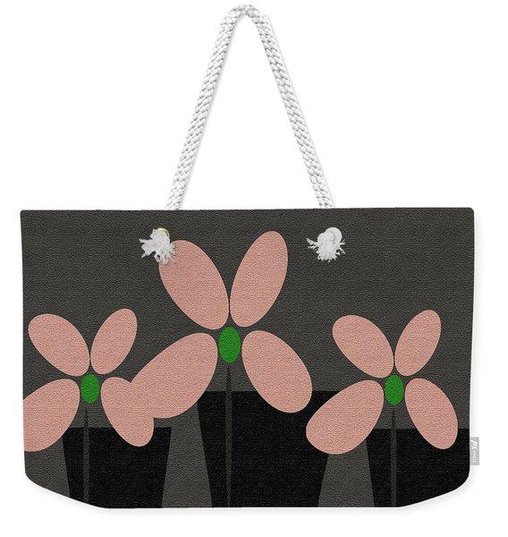 Abstract Floral Art 394 Weekender Tote Bag