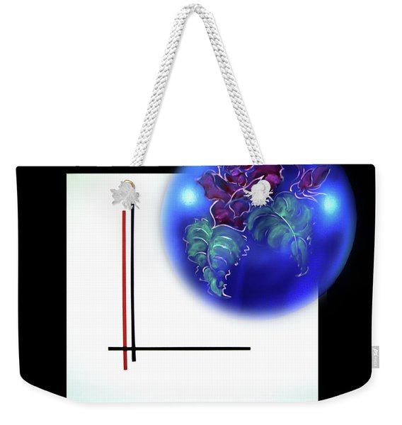 Abstract In Perfection - Fertile Imagination Rose 3 Weekender Tote Bag