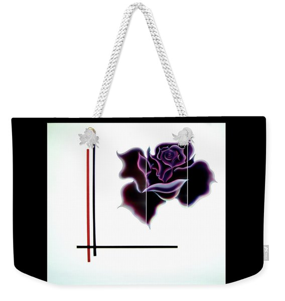 Abstract In Perfection - Fertile Imagination Rose 4 Weekender Tote Bag