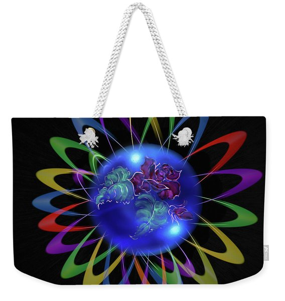Abstract In Perfection - Fertile Imagination Rose 5 Weekender Tote Bag