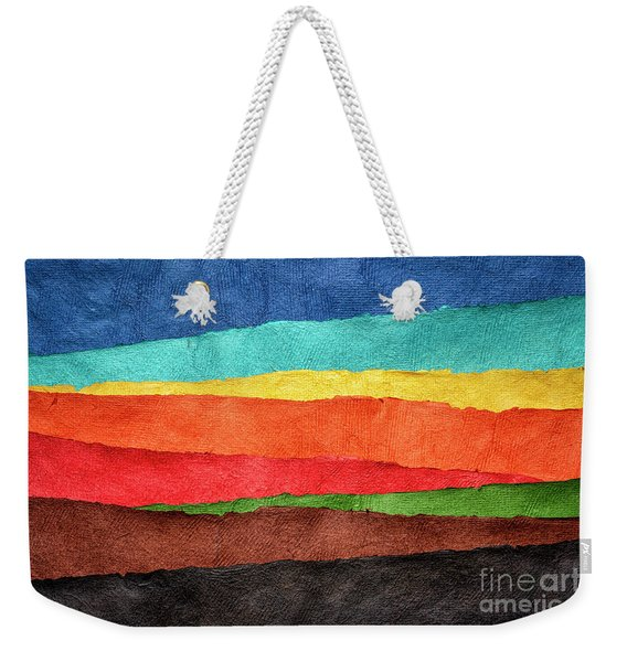 Abstract Landscape Created With Handmade Paper Weekender Tote Bag
