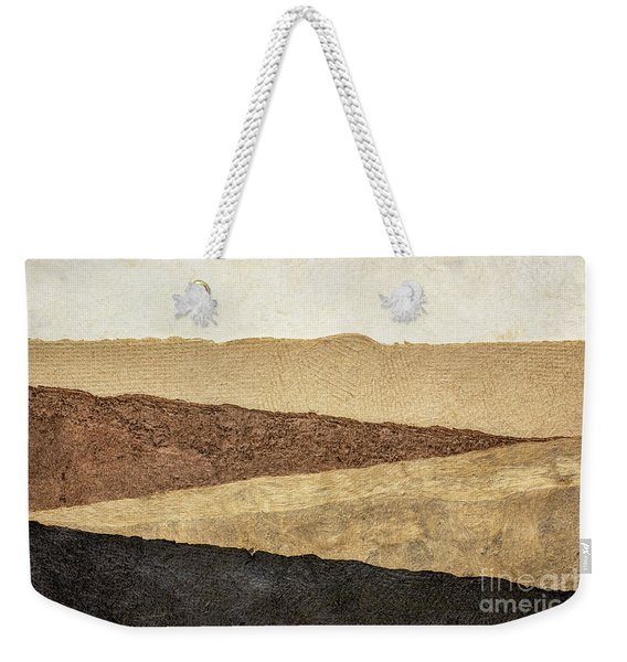 Abstract Landscape In Earth Tones Weekender Tote Bag