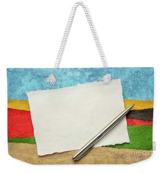 Abstract Landscape With A Blank Note Weekender Tote Bag