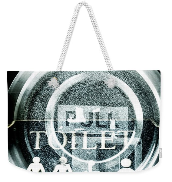 Abstract Public Toilet Sign Weekender Tote Bag