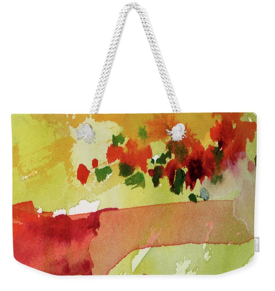 Abstract Red Poppies Panorama Weekender Tote Bag
