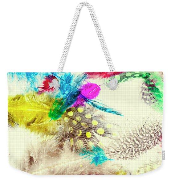Abstract Softness Weekender Tote Bag