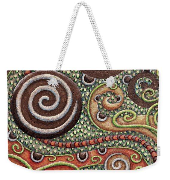 Abstract Spiral 10 Weekender Tote Bag