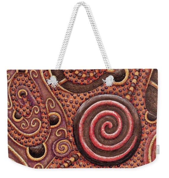 Abstract Spiral 12 Weekender Tote Bag
