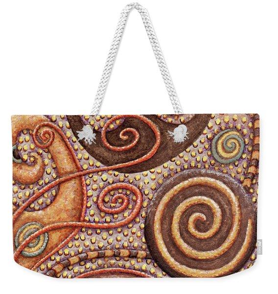 Abstract Spiral 2 Weekender Tote Bag