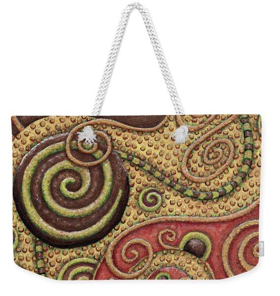 Abstract Spiral 3 Weekender Tote Bag