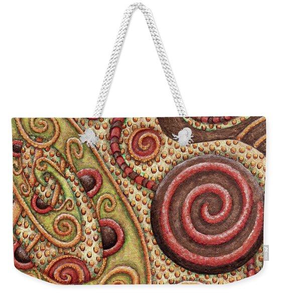 Abstract Spiral 4 Weekender Tote Bag