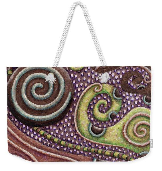 Abstract Spiral 7 Weekender Tote Bag