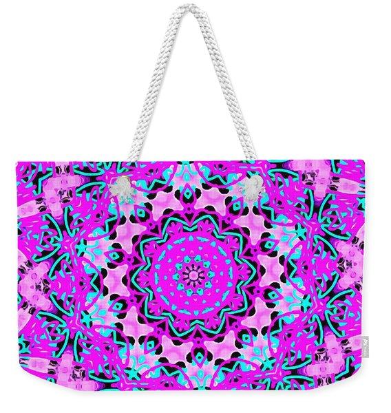 Abstract Spun Flower Weekender Tote Bag
