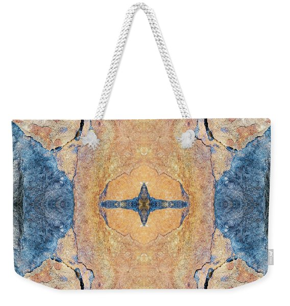 Abstract Stone Pattern Weekender Tote Bag