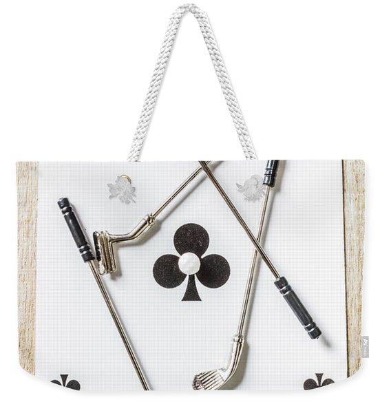 Ace Of Clubs Weekender Tote Bag