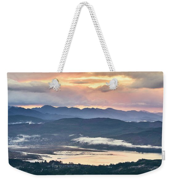 Weekender Tote Bag featuring the photograph Across The Bay by Whitney Goodey