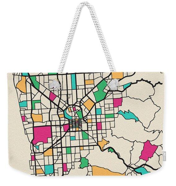 Adelaide, Australia City Map Weekender Tote Bag