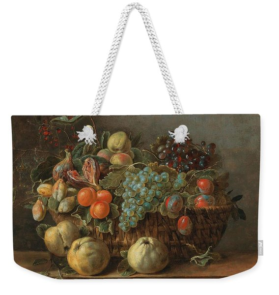Adriaen Van Utrecht Antwerp 1599-1652 53 Still Life Of Fruit Weekender Tote Bag