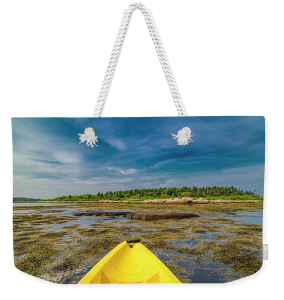 Adventurous Kayak In Maine Weekender Tote Bag