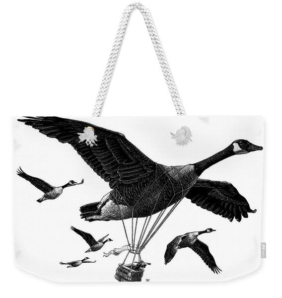 Aero Canada - Bw Weekender Tote Bag