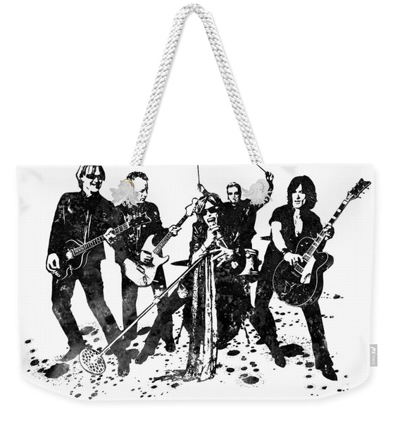 Aerosmith Band Black And White Watercolor 03 Weekender Tote Bag
