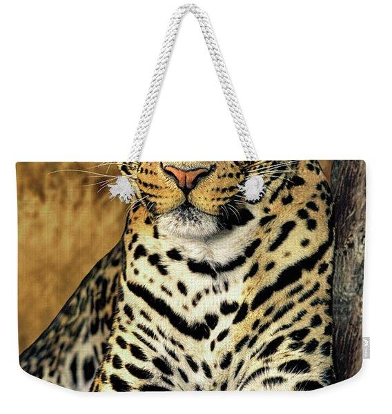African Leopard Portrait Wildlife Rescue Weekender Tote Bag