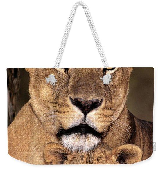 African Lions Parenthood Wildlife Rescue Weekender Tote Bag