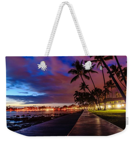 After Sunset At Kona Inn Weekender Tote Bag